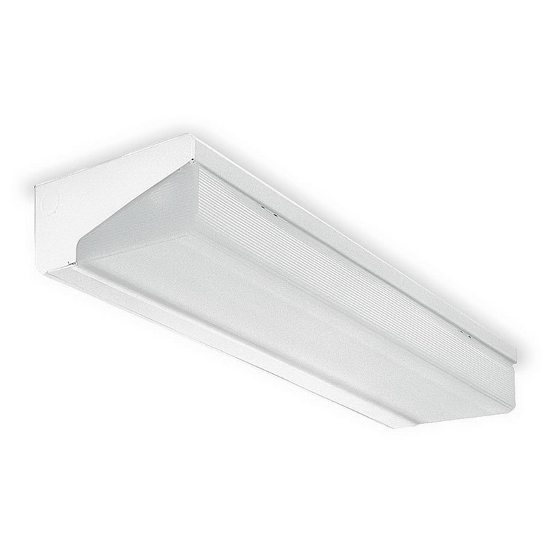 Lithonia Lighting / Acuity WP 2 32 MVOLT GEB10IS 2-Light Wall Premium Fluorescent Strip Fixture; 32 Watt, Baked White Polyester, Lamp Not Included