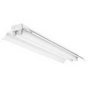 Lithonia Lighting / Acuity TLA 2 32 MVOLT 1/4 GEB10IS 2-Light Standard Tandem Double-Length Unit Fluorescent Strip Fixture; 32 Watt, Baked White Enamel, Lamp Not Included