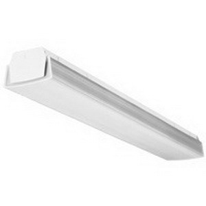 Lithonia Lighting / Acuity CB232MVOLTACNP 2-Light Surface/Stem Mount CB Series Fluorescent Corridor Curved-Basket Wraparound Fixture; 32 Watt, White Baked Enamel, Lamp Not Included