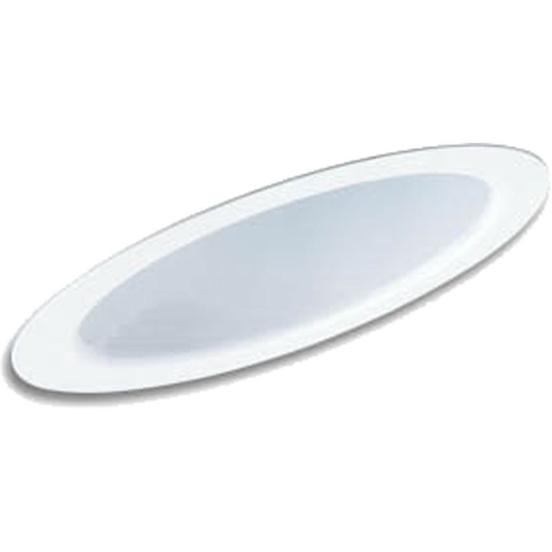 Lithonia Lighting / Acuity 6SO1 Ceiling Mount 6 Inch Full Reflector Sloped Trim With Baffle; Aluminum, Non-Insulated, White