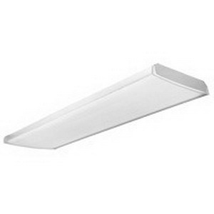 Lithonia Lighting / Acuity LB-3 32 MVOLT GEB10IS 3-Light Surface/Stem Mount Low Profile LB Series Fluorescent Curved-Basket Wraparound Fixture; 32 Watt, White Baked Enamel, Lamp Not Included