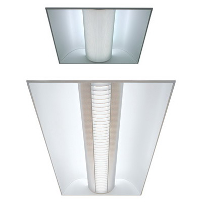 Lithonia Lighting / Acuity 2AV-G-3-32-MDR-MVOLT-1/3-GEB10 Avante® 3-Light Grid Ceiling Mount AV Series Direct/Indirect Symmetric Distribution T8 Linear Fluorescent Recessed Troffer; 32 Watt, Gloss White Enamel, Lamps Not Included