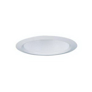 Lithonia Lighting / Acuity 3B1W-U 3 Inch Finishing Trim; Aluminum Open Reflector, Insulated/Non-Insulated, White Baffle