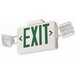 Lithonia Lighting / Acuity ECG LED M6 LED Exit/Unit Combo; 120/277 Volt, 3.2 Watt, Green Letter