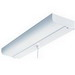 Lithonia Lighting / Acuity CUC8-15-120-LP-S1-M4 1-Light Ceiling Mount General Purpose Straight Tube Fluorescent Closet Utility Light With Pull Chain Switch; 15 Watt, Lamp Included