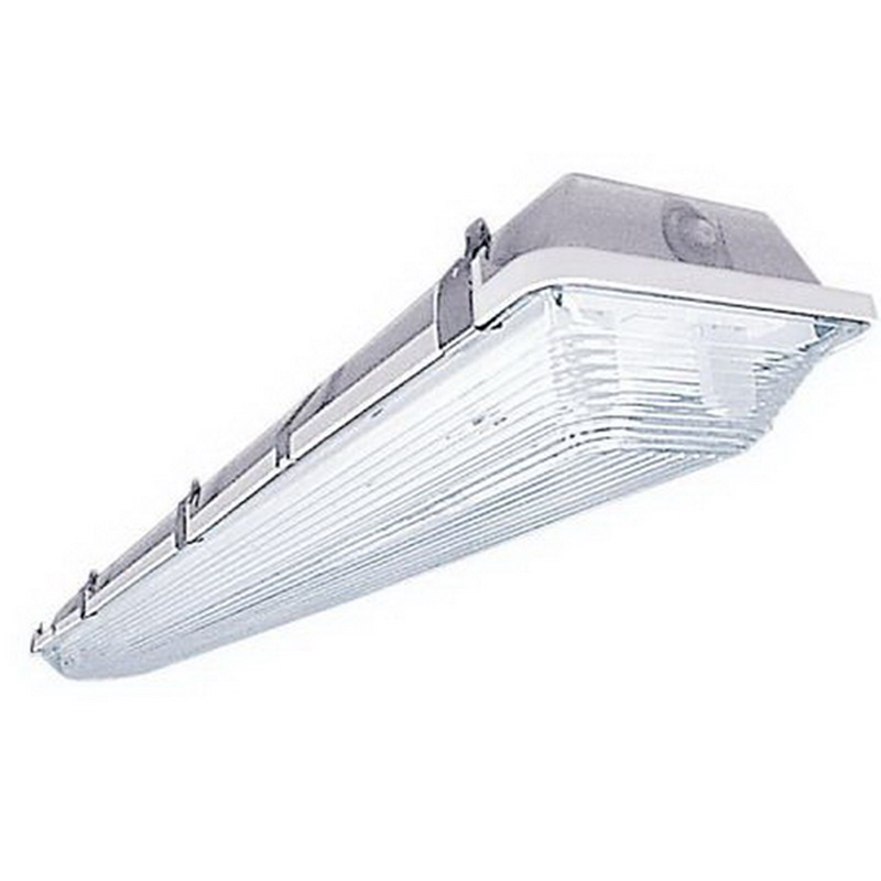 LSI Lighting EG3-232-SSO10-WL-UE 2-Light Fluorescent Vapor Tight Light Fixture; 32 Watt, White Polyester Powder-Coated