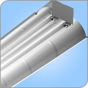 LSI Lighting F-22-232-SSO10-UE 2-Light F22 Series Economy Fluorescent High Bay Fixture; 32 Watt, White Polyester Powder-Coated