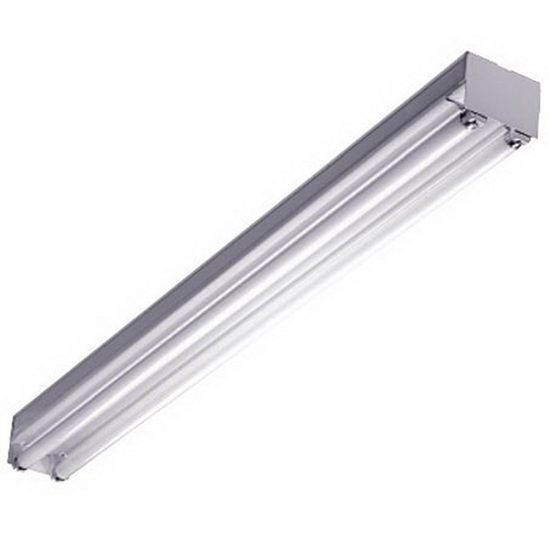LSI Lighting S-232-SSO10-UE 2-Light S Series Fluorescent Strip Fixture; 32 Watt, White Polyester Powder-Coated