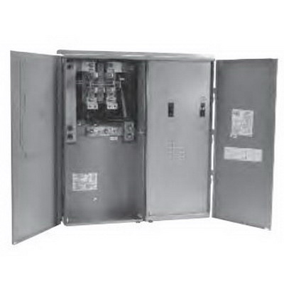 Midwest MS45508C Ring Metered Power Outlet Panel; 240 Volt, 400 Amp, Electrodeposited Galvanized G90 Steel, 1 Phase