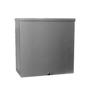 Milbank 24244-SC3R Junction Box; 24 Inch Width x 4 Inch Depth x 24 Inch Height, Screw Cover