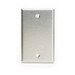Perfect-Line SP41-G 1-Gang Blank Cover; Box, Vertical Mount, Aluminum, Gray