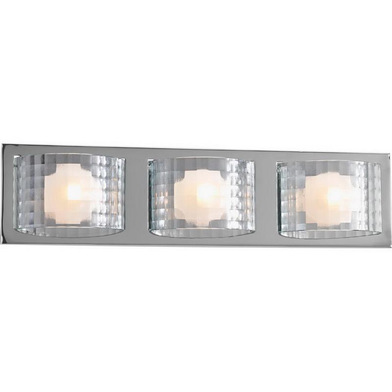 Progress Lighting P2825-15WB Cliche Collection 3-Light Halogen Wall Contemporary/Modern Bath ...
