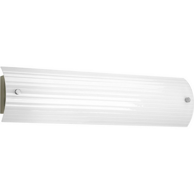 Vanity Fluorescent Lights Bathroom : Progress Lighting P7218-09EB 2-Light Ribbed Linear Bath Family Linear Fluorescent Vanity Fixture ...