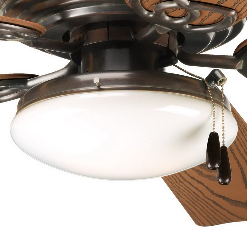 Progress Lighting P2611-20 AirPro™ Ceiling Fan Light Kit; Antique Bronze, (2) 40 Watt Incandescent, Lamp Included
