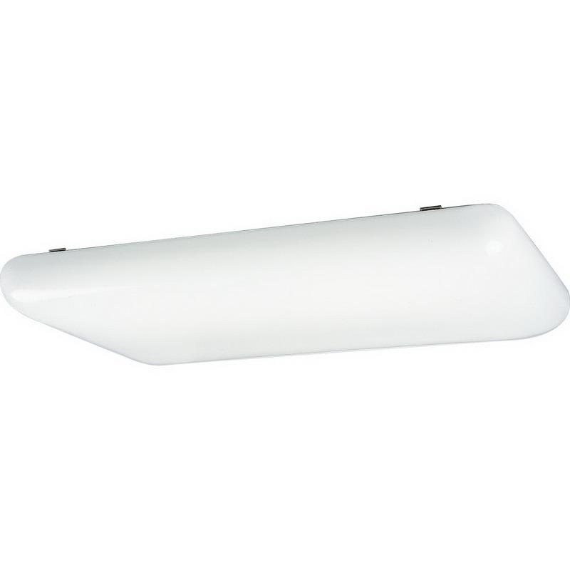 Progress Lighting P7280-60EB 4-Light Ceiling Modular Fluorescent Strip Fixture; 32 Watt, White, Lamp Not Included