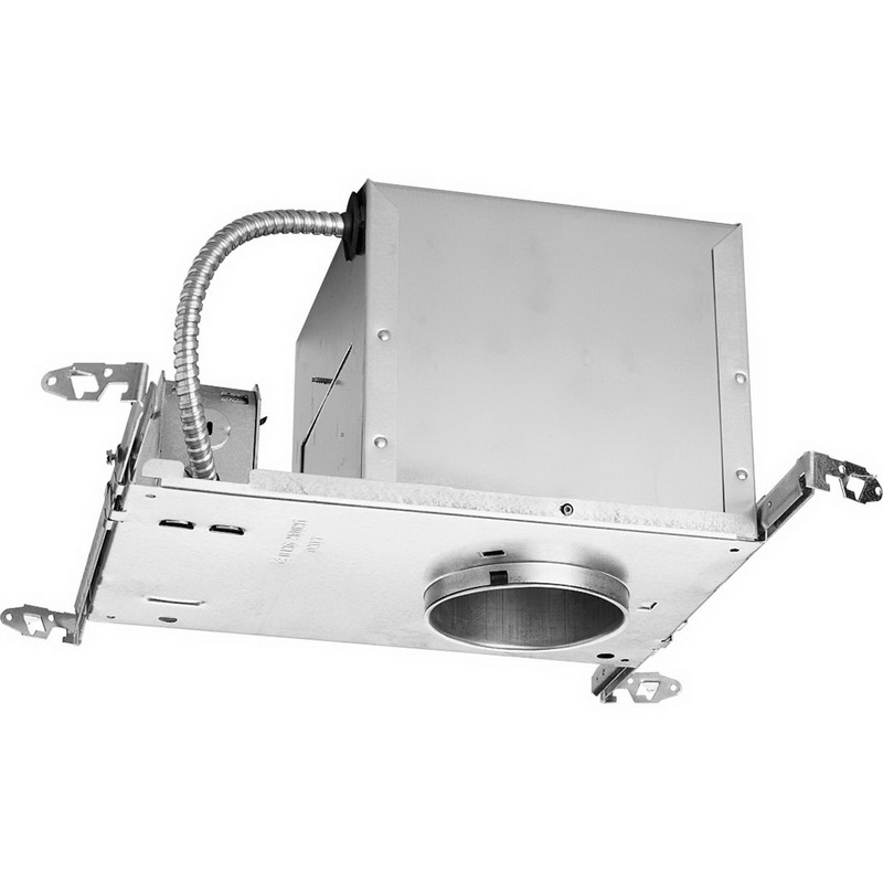 Progress Lighting P831-AT 1-Light Line Voltage 4 Inch Air-Tight Recessed Housing; Aluminum, Medium Base, Insulated