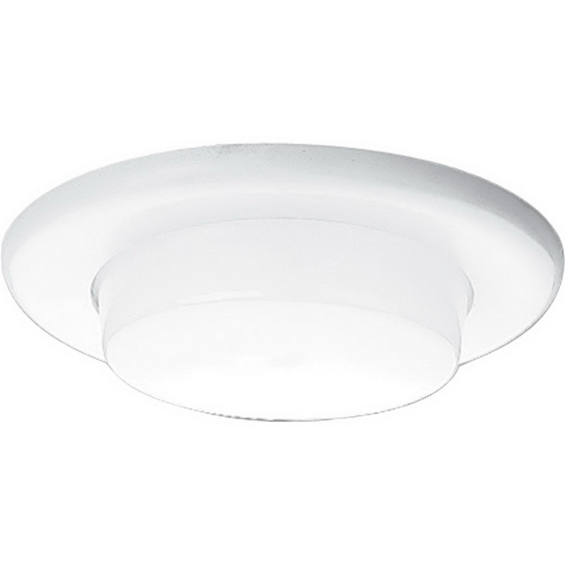 """""""""""Progress Lighting P8009-60 Ceiling Mount 6 Inch Drop Opal Recessed Shower Trim With Reflector Non-Metallic Flange, Full Aluminum Interior Reflector, Non-Insulated, White,"""""""""""" 519546"""