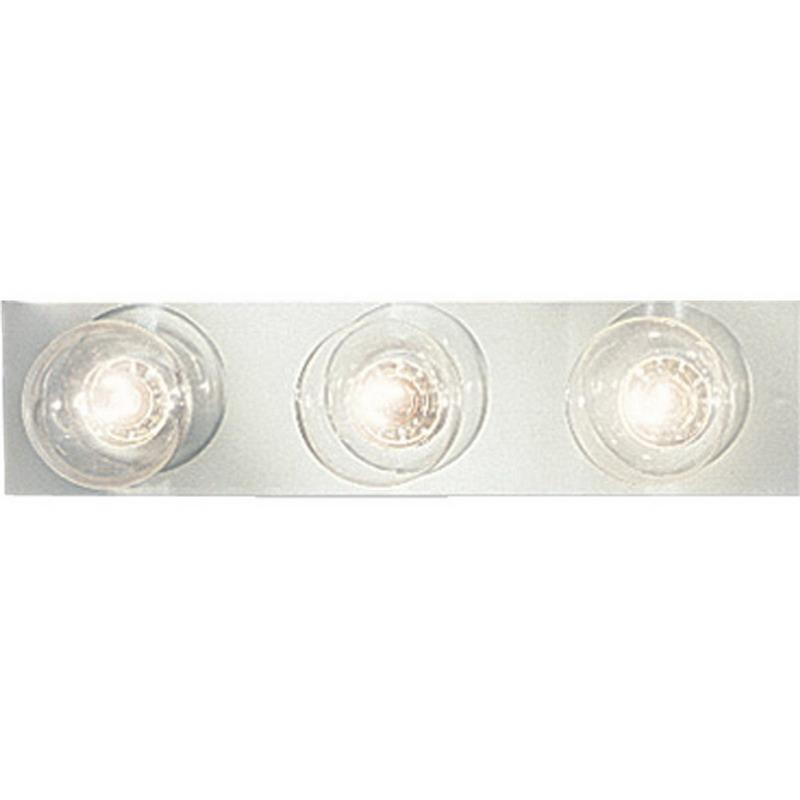 """""Progress Lighting P3333-15 Broadway Collection 3-Light Incandescent Wall Contemporary/Modern Bath Vanity Light Fixture 60 Watt, Polished Chrome,"""""" 96942"