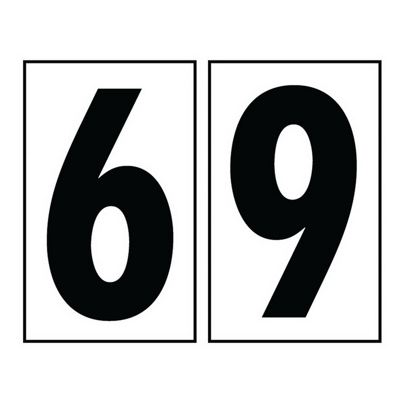 Sea Gull 90616-68 Address Light Collection 6 Or 9 Number Tile; Polycarbonate, White, Black Imprint