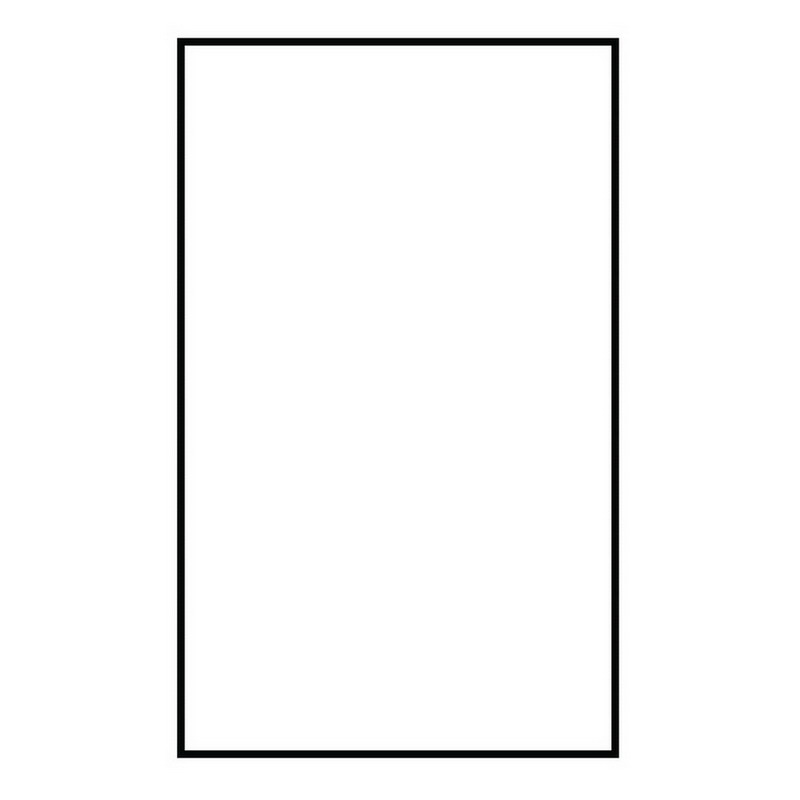 Sea Gull 90619-68 Address Light Collection Blank Tile; Polycarbonate, White