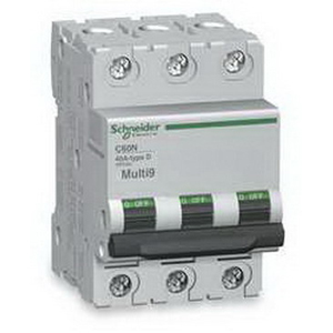 Schneider Electric / Square D MG24154 Multi 9 PowerPact Supplementary Protector 63 Amp  480/277 Volt  3-Pole  DIN Rail Mount