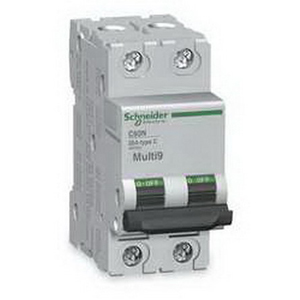 Schneider Electric / Square D MG17456 Multi 9™ PowerPact Supplementary Protector; 15 Amp, 480/277 Volt, 2-Pole, DIN Rail Mount