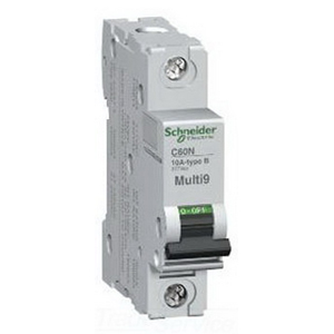Schneider Electric / Square D MG24500 Multi 9™ Supplementary Protector; 1 Amp, 480/277 Volt AC, 1-Pole, 35 mm DIN Rail Mount