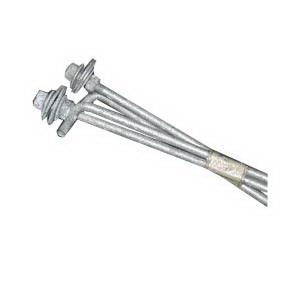 Hubbell Lighting TAB-30 Spaulding Lighting Steel Anchor Bolt; 3/4 Inch Dia x 30 Inch Length