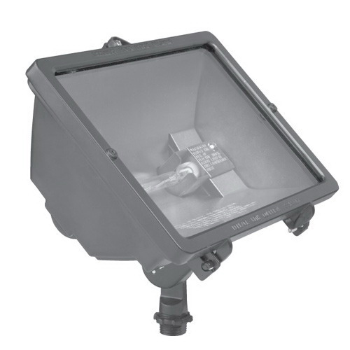 Hubbell Lighting Q-500-B 1-Light Q Series Outdoor Quartz Flood Light; 500 Watt, Bronze, Lamp Included