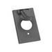 Thepitt TP7202 Rectangular Self-Closing 1-Gang Weatherproof Outlet Cover; 1 Outlet, Box/Vertical, Die-Cast Zinc, Gray