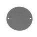 Thepitt TP7158 Flat Round Blank Outlet Box Cover Plate; 4 Inch, Die-Cast Aluminum, Gray