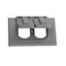 Thepitt TP7207 Rectangular Self-Closing 1-Gang Weatherproof Outlet Cover; 2 Outlet, Box/Horizontal, Die-Cast Zinc, Gray