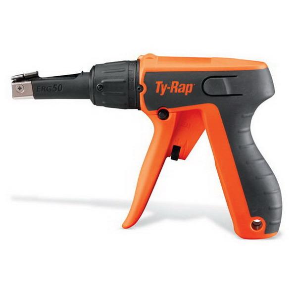 Thomas & Betts ERG50 Ty-Rap® Ergonomic Light Duty Adjustable Cable Tie Tool; High Impact Polymer, 0.094 - 0.184 Inch Width