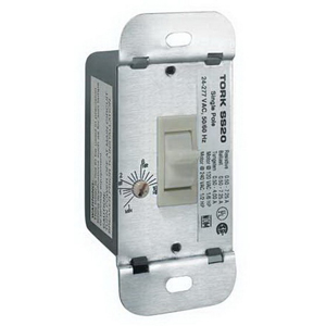 NSI SS20F Tork® SS Series Auto Off In-Wall Timer Switch; 1 min - 18 Hour, White, Single Pole, 24/120/208/240/277 Volt AC