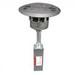 Wiremold RC4ATCBK Round Multi-Service Flush Poke-Thru Device; Step On It and Retaining Clips Mount, Non-Metallic, Black