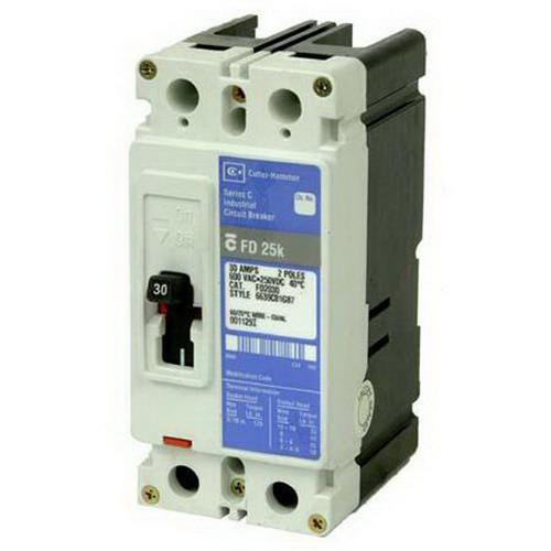 Eaton / Cutler Hammer EHD2030 Molded Case Circuit Breaker; 30 Amp, 480 Volt AC/250 Volt DC, 2-Pole