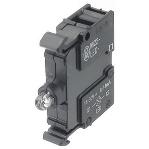 Eaton / Cutler Hammer M22-LED230-W Illuminated Light Unit; 85 - 264 Volt AC, 5 - 15 Milli-Amp, LED, 22.5 mm Front Mount, White