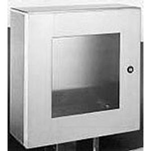 Wiegmann N412242008WSSC Single Door with Window Enclosure 508 mm Width x 203 mm Depth x 610 mm Height  14 Gauge Stainless Steel Body and Door