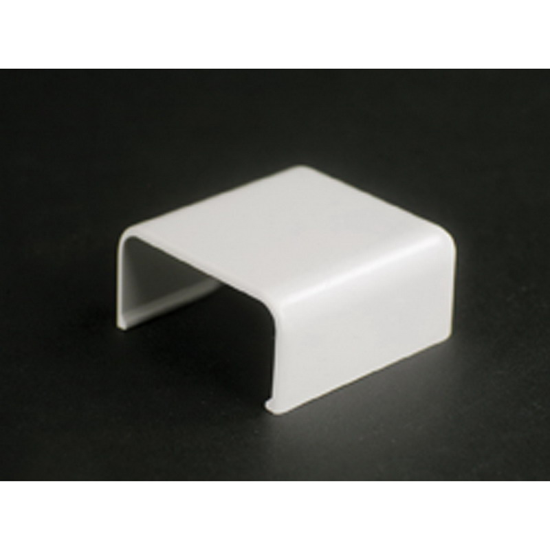 Wiremold 2806 Single-Channel Non Metallic Cover Clip Fitting; 1-1/2 Inch Length x 1 Inch Width Ivory, PVC