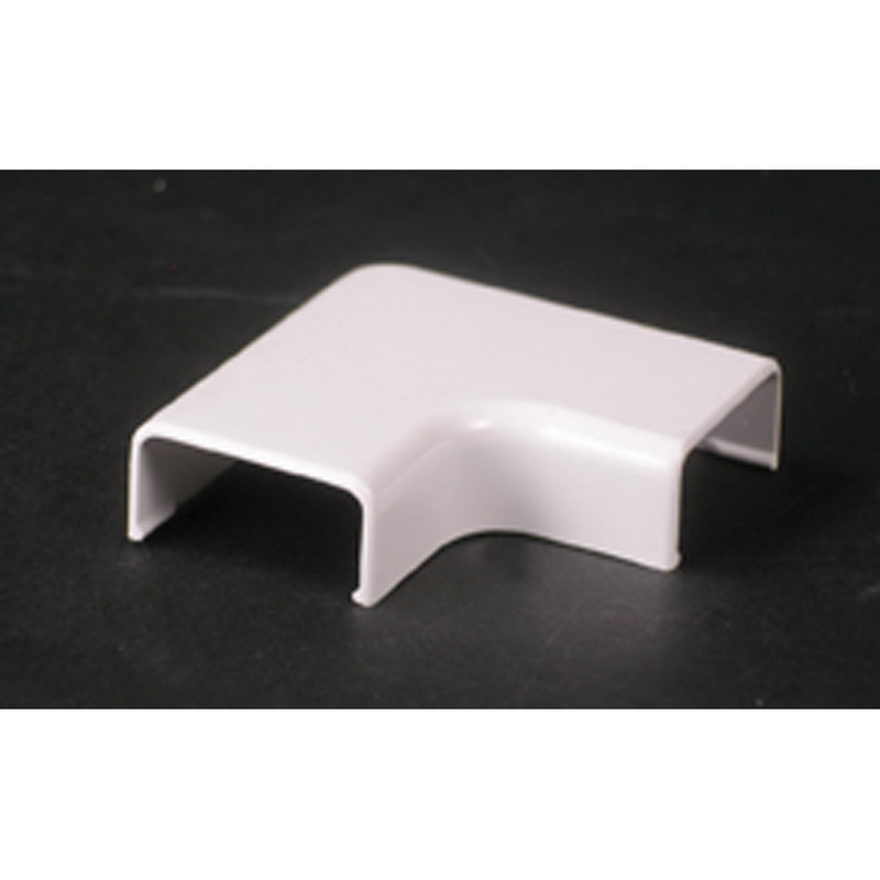 Wiremold 2811 90 deg Non Metallic Flat Elbow Fitting; 2 Inch Length x 1 Inch Width Ivory, PVC