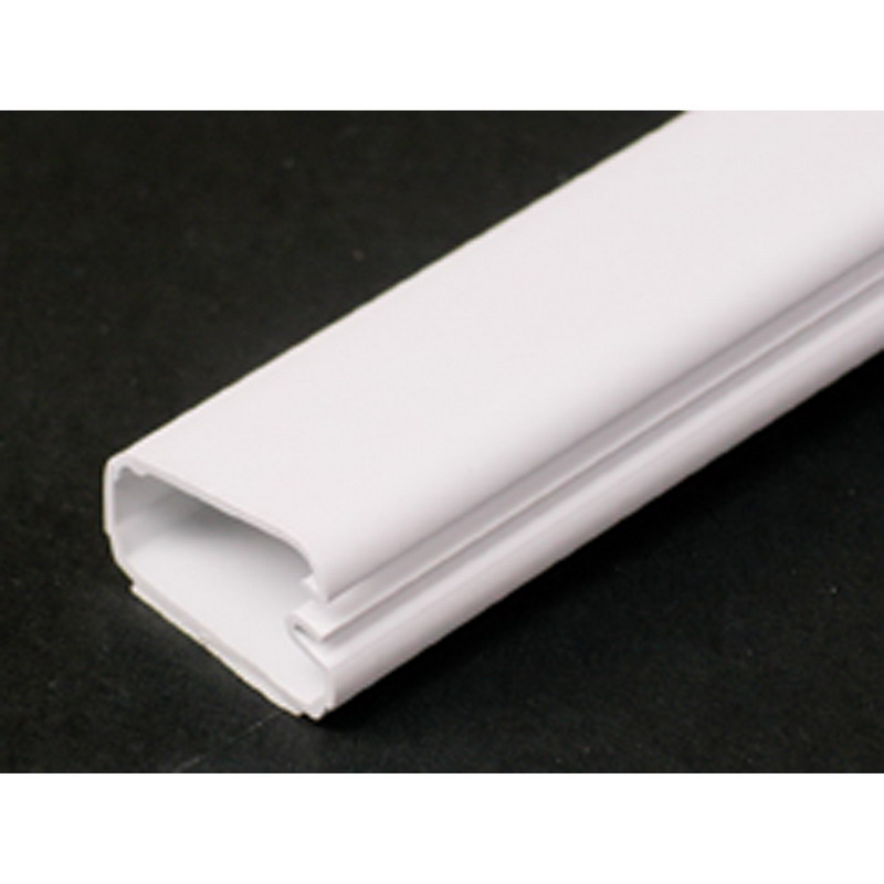 Wiremold 2800 Uniduct® Single Channel Low-Voltage Latching Raceway; 6 ft Length x 1/2 Inch Width x 1 Inch Height, Plastic, Smooth, Ivory Min order qty is 6