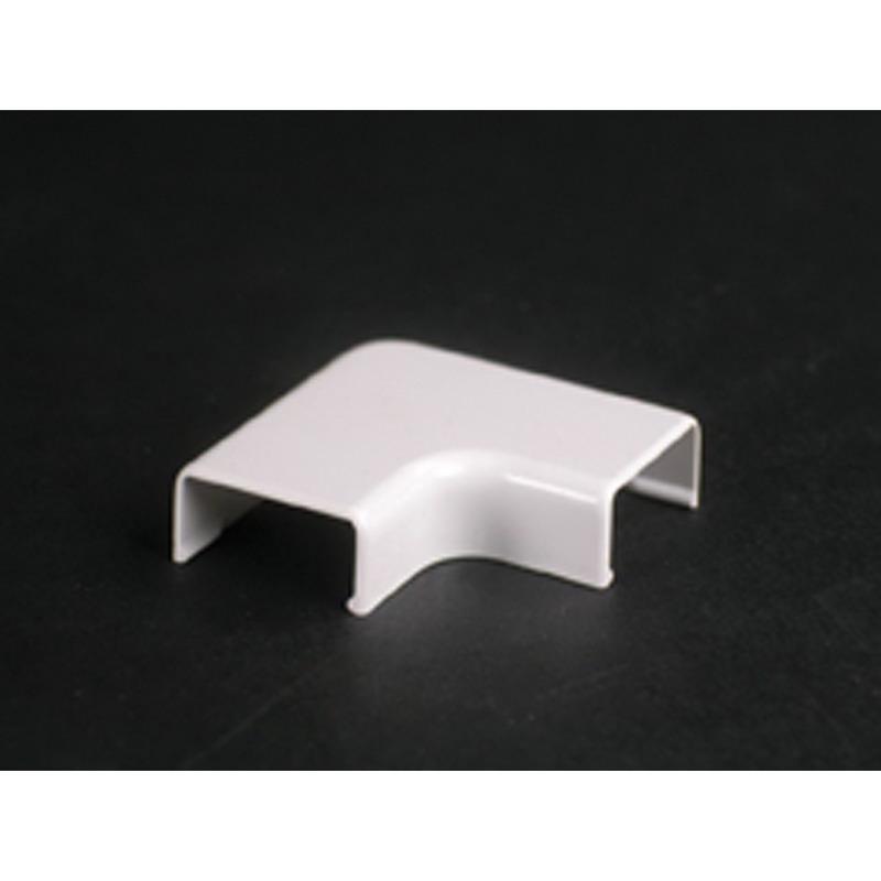 Wiremold 2711 90 deg Non Metallic Flat Elbow Fitting; 1-1/2 Inch Length x 3/4 Inch Width Ivory