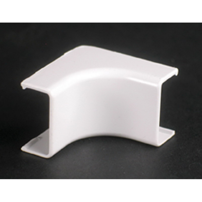 Wiremold 2817 Single-Channel Non Metallic Internal Elbow Fitting; 2-1/4 Inch Length x 1 Inch Width Ivory, PVC