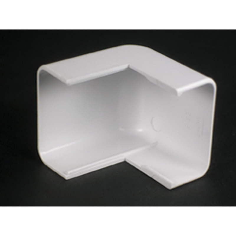 Wiremold 2918 Single-Channel Non Metallic External Elbow Fitting; 1-7/8 Inch Length x 1-1/2 Inch Width Ivory, PVC