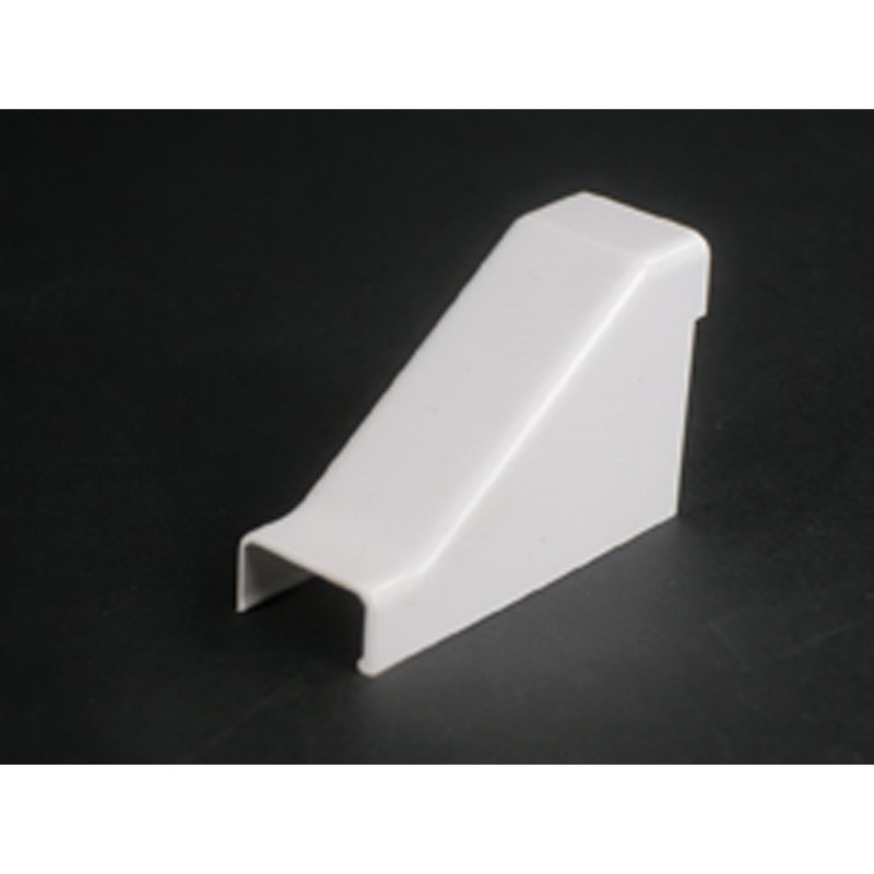 Wiremold 2786 Single-Channel Non Metallic Drop Ceiling Connector Fitting; 2-1/8 Inch Length x 3/4 Inch Width x 1-7/16 Inch Height, Ivory, PVC