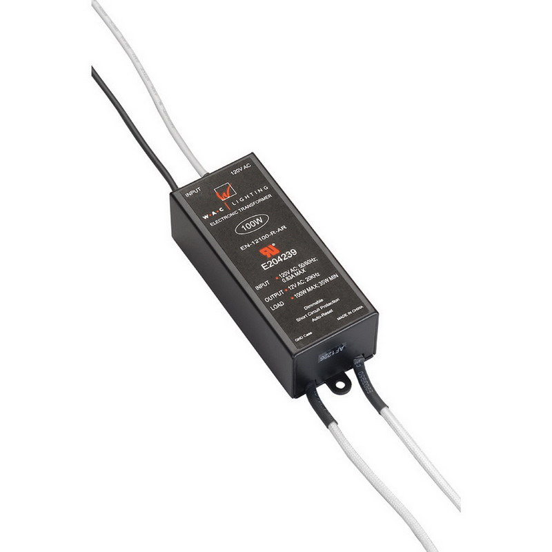 WAC Lighting EN-12100-R-AR Low Voltage Non-Enclosed Electronic Transformer 12/24 Volt Output