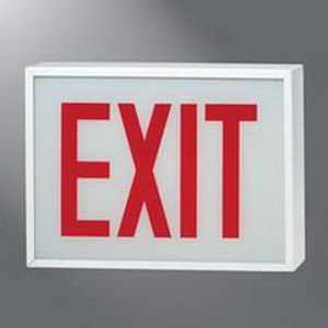 Cooper Lighting CHX70DH Sure-Lites® Self Powered CHX-DH Series No Lens Combination Exit Sign and Light; 120/277 Volt AC, 19.1 Watt, White, Red Letter