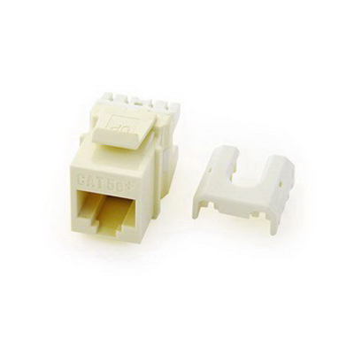 On-Q WP3476-LA Quick Connect Category 6A RJ45 Female Keystone Insert Wallplate or Strap Mount  8P8C  Light Almond