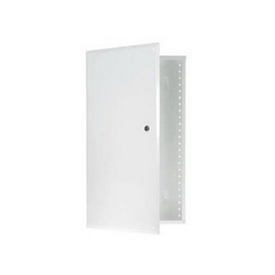 On-Q EN4250 Enclosure With Hinged Door; Surface/Flush Mount, Glossy White