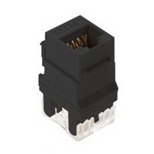 On-Q WP3450-BK Category 5e RJ45 Keystone Connector; Vertical Mount, 8P8C, Black
